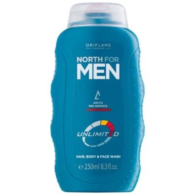 sprchový gel na obličej, tělo a vlasy