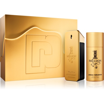 Paco Rabanne 1 Million Gift Set I.  Eau De Toilette 100 ml + Deodorant Spray 150 ml