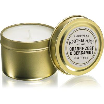 Paddywax Apothecary Orange Zest & Bergamot duftkerze  in blechverpackung