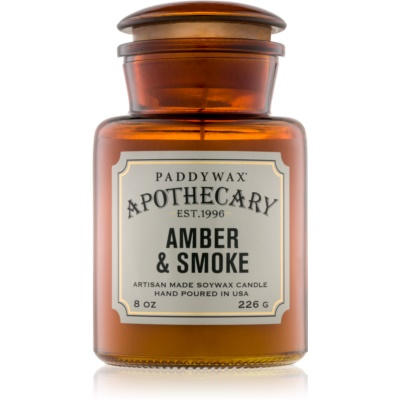Paddywax Apothecary Amber & Smoke Scented Candle
