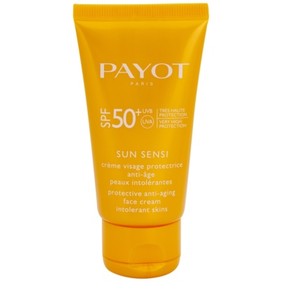 creme protetor facial anti-idade para peles sensíveis SPF 50+