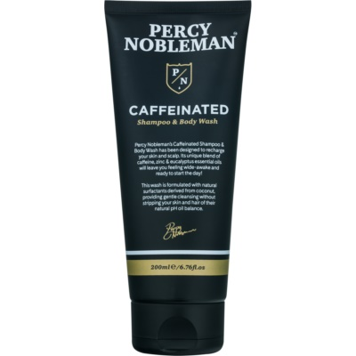 kofeinový šampon pro muže na tělo a vlasy