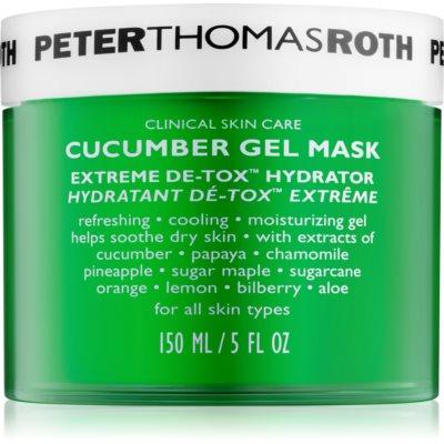 Peter Thomas Roth Cucumber De-Tox maschera in gel idratante per viso e contorno occhi