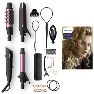 Philips StyleCare Advanced BHH822 Hair Straightener And Curling Iron 2 In 1