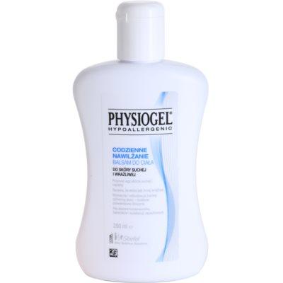 hydratačný telový balzam pre suchú a citlivú pokožku