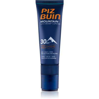 Piz Buin Mountain Protective Face Cream and Lip Balm 2 v 1 SPF 30