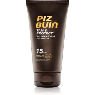 Piz Buin Tan & Protect napozást elősegítő védő tej SPF 15