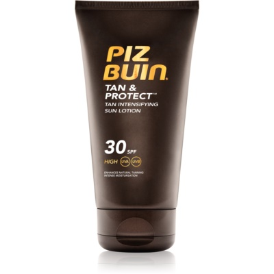 Piz Buin Tan & Protect schützende Sonnenlotion für schnellere Bräune SPF 30