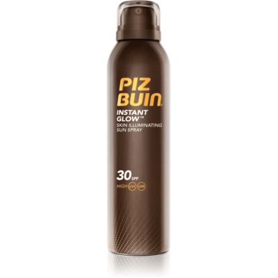 Piz Buin Instant Glow Sunscreen Spray with Shimmer SPF 30