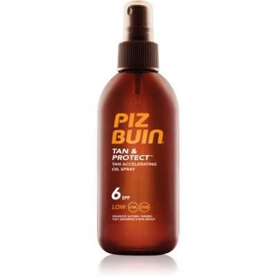 Piz Buin Tan & Protect Beschermende Olie voor Snellere Bruining SPF 6