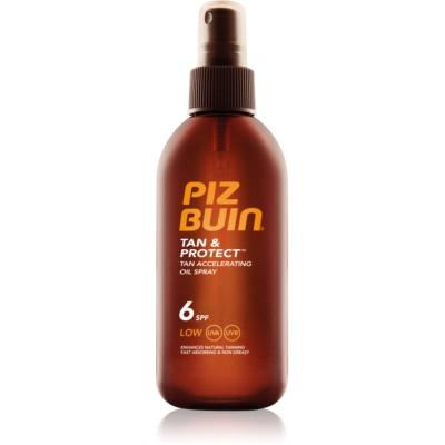 Piz Buin Tan & Protect Skyddande accelererande sololja  SPF 6