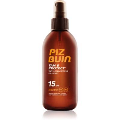 Piz Buin Tan & Protect olejek ochronny przyspieszający opalanie SPF 15