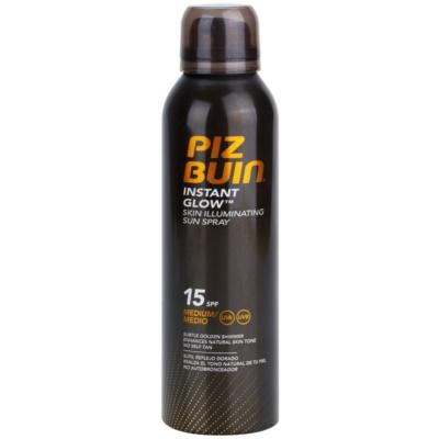 Piz Buin Instant Glow spray bronzeador iluminador SPF 15