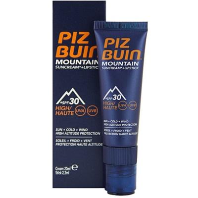 Piz Buin Mountain ochranný krém na obličej a balzám na rty 2 v 1 SPF 30