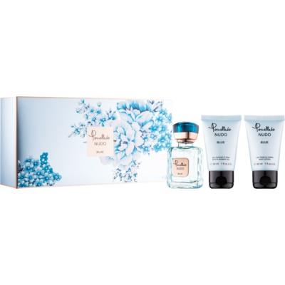 Pomellato Nudo Blue poklon set I.  parfemska voda 25 ml + mlijeko za tijelo 30 ml + gel za tuširanje 30 ml
