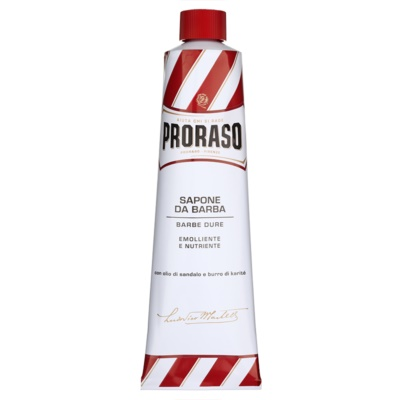 Proraso Red Shaving Soap for Coarse Facial Hair In Tube