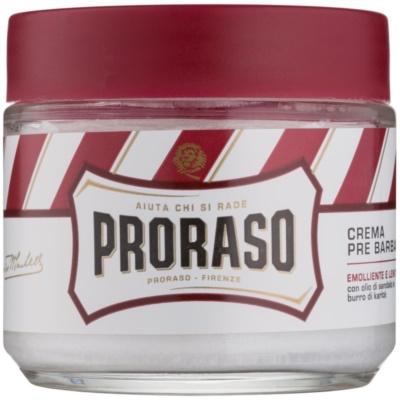 Proraso Red borotválkozás előtti krém az erős bajuszra