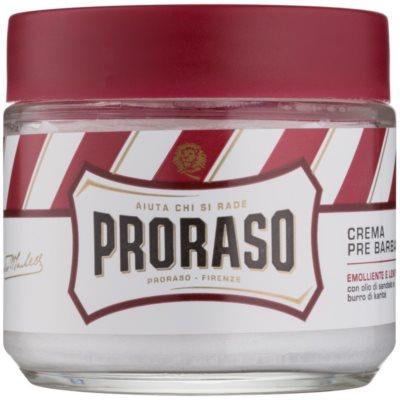 Proraso Red Pre-Shave-Creme für hartes Barthaar