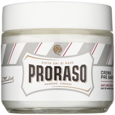 Proraso White creme de pré barbear para pele sensível