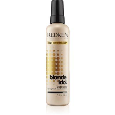 ľahký multifunkčný sprej pre blond vlasy