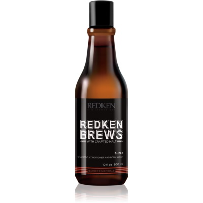 Redken Brews 3 v 1 šampon, balzam in gel za prhanje