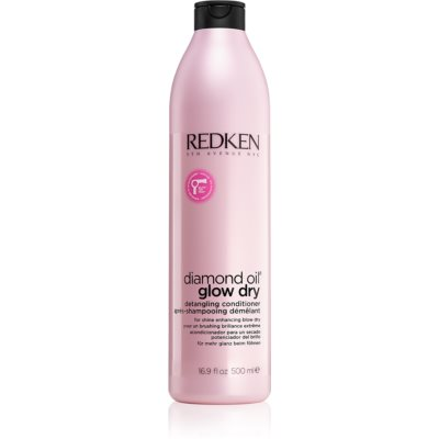 Redken Diamond Oil Glow Dry Brightening Conditioner for Glossy Hair that's Easy to Comb