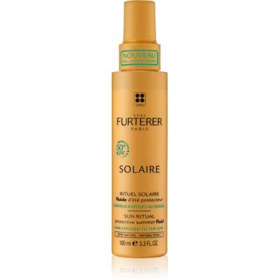 zaščitni fluid za lase izpostavljene soncu, morski in klorirani vodi