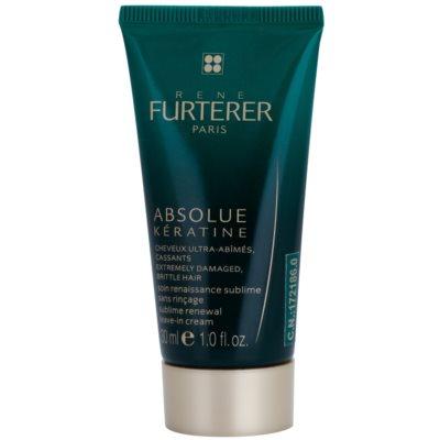 Rene Furterer Absolue Kératine crème régénératrice sans rinçage pour cheveux ultra-abîmés