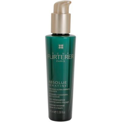 crema rigenerante senza risciacquo per capelli molto rovinati