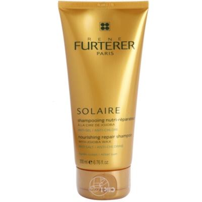 champô nutritivo para cabelo danificado pelas ações do sol, cloro e sal