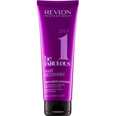čistilni šampon z učinkom odpiranja lasne kutikule
