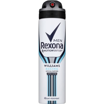 Rexona Williams Racing Limited Edition antitranspirante em spray para homens