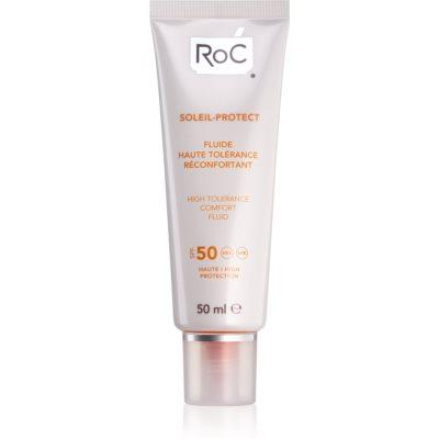 RoC Soleil Protect zaštitni fluid za vrlo osjetljivu kožu lica SPF 50