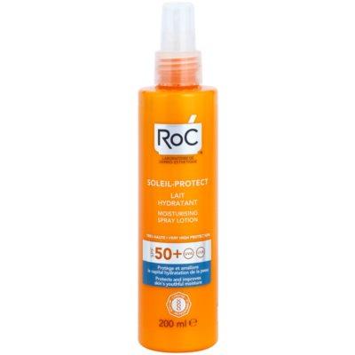 RoC Soleil Protect захисне зволожуюче молочко у формі спрею SPF 50+
