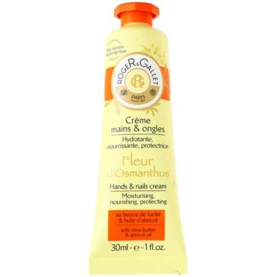 Roger & Gallet Fleur d´ Osmanthus Hand & Nail Cream With Shea Butter And Apricot Oil