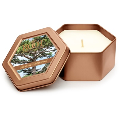 Root Candles Japanese Cedarwood Geurkaars  In Blik