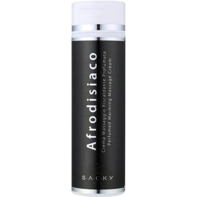 S.A.C.K.Y. Afrodisiaco creme para massagem quente perfumada unissexo