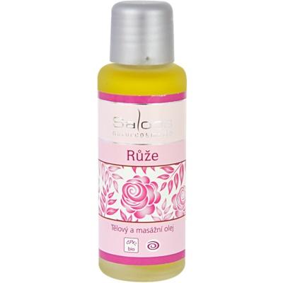 tělový a masážní olej Růže