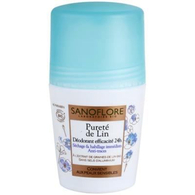 Sanoflore Déodorant Desodorizante Roll-On sem amoníaco 24 h
