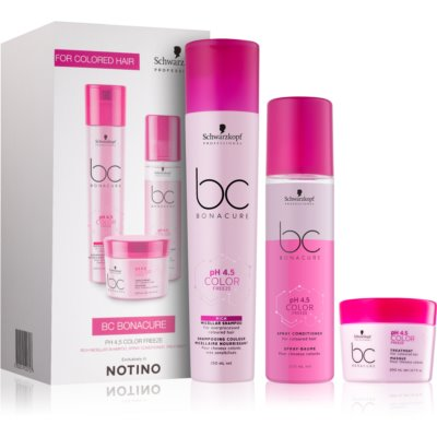 Schwarzkopf Professional pH 4,5 BC Bonacure Color Freeze lote de regalo I. (para cabello teñido)