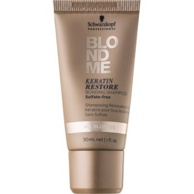 shampooing régénérateur à la kératine pour cheveux blonds