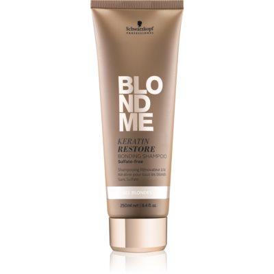 obnovující šampon s keratinem pro všechny typy blond vlasů