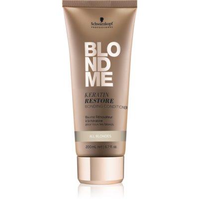regenerierender Keratin Conditioner für alle blonde Haartypen