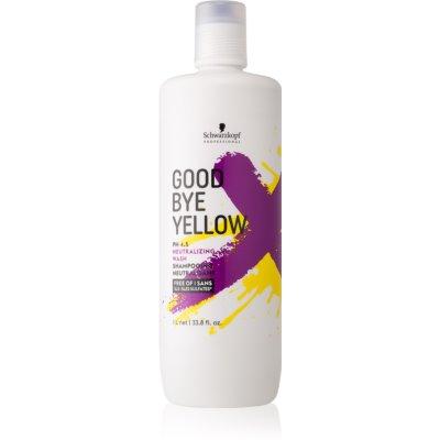 champú para neutralizar el tono amarillo para cabello teñido y con mechas