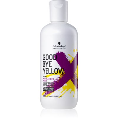Schwarzkopf Professional Good Bye Yellow champô neutralizante dos tons amarelos para cabelo pintado e com madeixas  300 ml