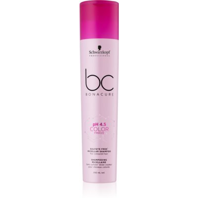 Schwarzkopf Professional pH 4,5 BC Bonacure Color Freeze champú micelar sin sulfatos