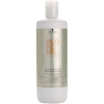 keratynowy szampon neutralizujący pH do włosów blond