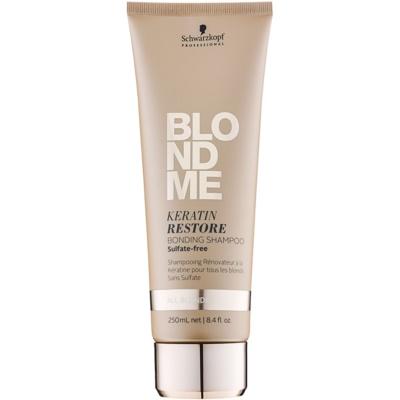 regenerujący szampon z keratyną do wszystkich typów włosów  blond