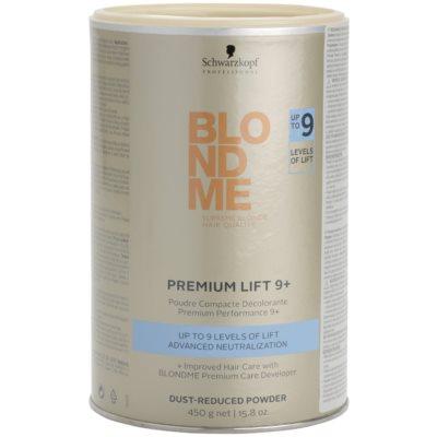 polvo decolorante premium 9+ con reducida formación de polvo