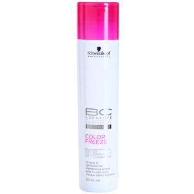 šampon se stříbrnými reflexy pro blond a šedivé vlasy